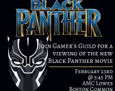 Gamer's Guild Presents: Black Panther Movie Viewing