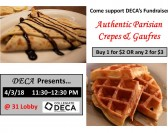 DECA Fundraiser: Crepes and Gaufres