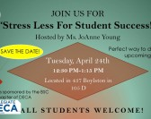 Stress Less for Student Success- DECA Event
