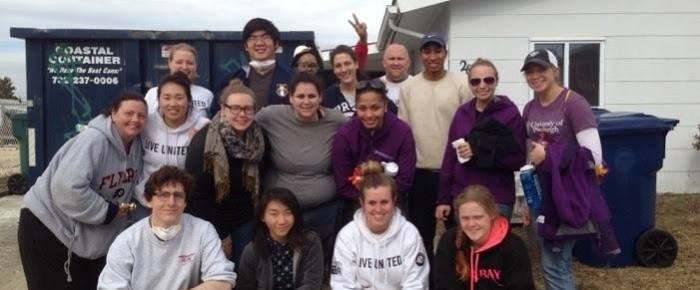 Bay State College students giving back through an Alternative Spring Break (ASB) trip.