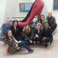 Fashion students visiting the Peabody Essex Museum