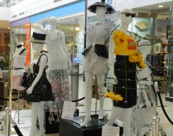 Bay State College Sustainable Fashion Display at Northshore Mall in Peabody, MA.